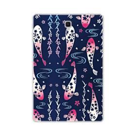 和柄:桜&錦鯉 Samsung Galaxy Tab S4 10.5 TPU クリアケース