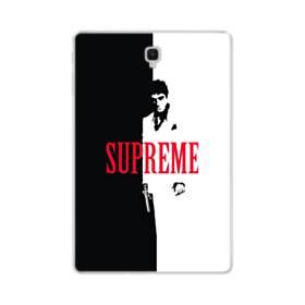 デザイン 白黒系パターン(アルファベット入り:SUPER ME) Samsung Galaxy Tab S4 10.5 TPU クリアケース