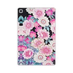 和の花柄 Samsung Galaxy Tab S5e TPU クリアケース