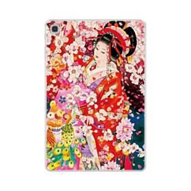 和・花魁&桜 Samsung Galaxy Tab S5e TPU クリアケース