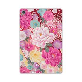 和の花柄:牡丹 Samsung Galaxy Tab S5e TPU クリアケース