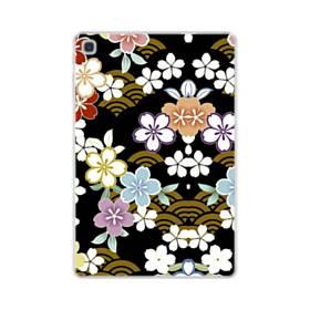 和風・桜&浪 Samsung Galaxy Tab S5e TPU クリアケース