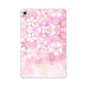 爛漫・ピンク&桜色 Samsung Galaxy Tab S5e TPU クリアケース