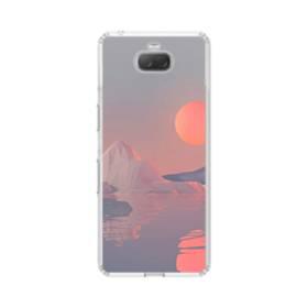 北極海&月 Sony Xperia 10 Plus TPU クリアケース