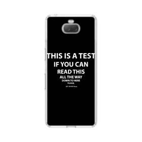デザイン・英文(ユーモア風) Sony Xperia 10 Plus TPU クリアケース
