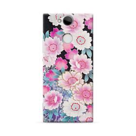 和の花柄 Sony Xperia XA2 ポリカーボネート ハードケース