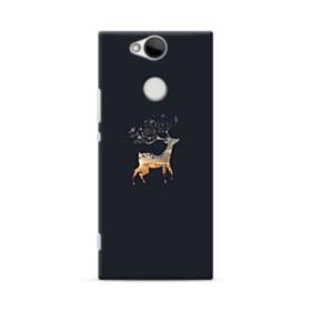 キリン 森 神秘的 黒 ワンポイント Sony Xperia XA2 ポリカーボネート ハードケース