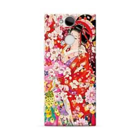 和・花魁&桜 Sony Xperia XA2 ポリカーボネート ハードケース