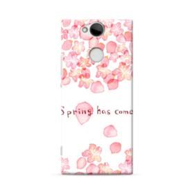 桜&デザイン英文 Sony Xperia XA2 ポリカーボネート ハードケース