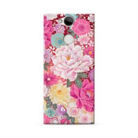 和の花柄:牡丹 Sony Xperia XA2 ポリカーボネート ハードケース