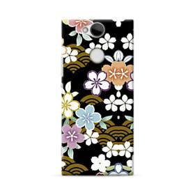 和風・桜&浪 Sony Xperia XA2 ポリカーボネート ハードケース