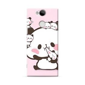 ピンク&もちもちパンダ Sony Xperia XA2 ポリカーボネート ハードケース