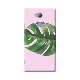 ピンク&リーフ Sony Xperia XA2 Ultra ポリカーボネート ハードケース
