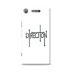 """デザイン アルファベット003、""""direction"""" Sony Xperia XZ1 ポリカーボネート ハードケース"""