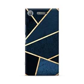 イケメン模様:紺&ゴールド Sony Xperia XZ1 ポリカーボネート ハードケース