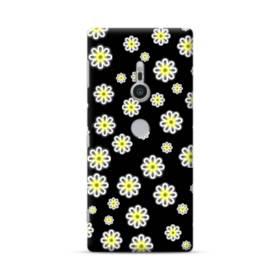 キュートな花のモチーフ Sony Xperia XZ2 ポリカーボネート ハードケース
