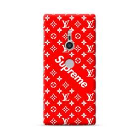 ルイ・ヴィトン&シュプリーム赤バージョン) Sony Xperia XZ2 ポリカーボネート ハードケース