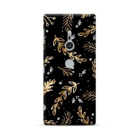 クリスマス デザイン リーフ・モチーフ Sony Xperia XZ2 ポリカーボネート ハードケース