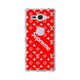 ルイ・ヴィトン&シュプリーム赤バージョン) Sony Xperia XZ2 Compact TPU クリアケース