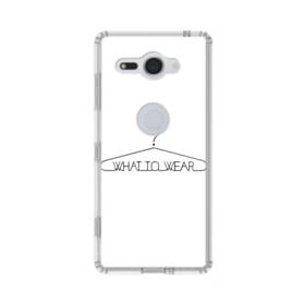 デザイン アルファベット004 what to wear Sony Xperia XZ2 Compact TPU クリアケース