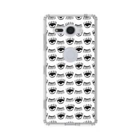 白黒系アート・まつ毛のモチーフ Sony Xperia XZ2 Compact TPU クリアケース