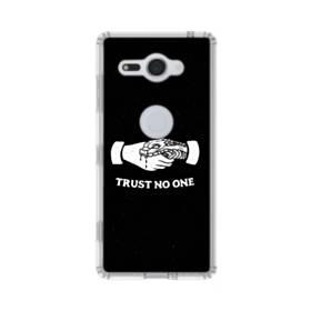 デザイン アルファベット008 trust no one Sony Xperia XZ2 Compact TPU クリアケース