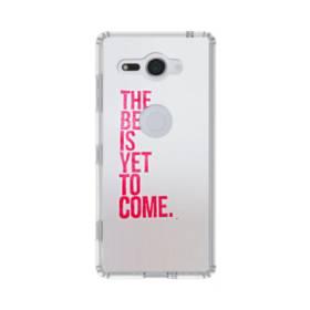 デザイン・アルファベット:The best is yet to come. Sony Xperia XZ2 Compact TPU クリアケース
