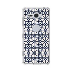 紺とピンクの幾何図パターン Sony Xperia XZ2 Compact TPU クリアケース