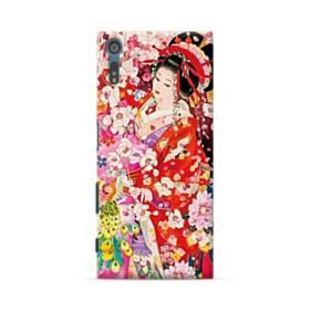 和・花魁&桜 Sony Xperia XZ ポリカーボネート ハードケース