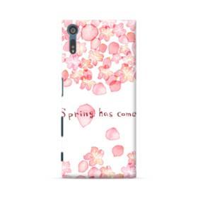 桜&デザイン英文 Sony Xperia XZ ポリカーボネート ハードケース