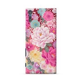 和の花柄:牡丹 Sony Xperia XZ ポリカーボネート ハードケース