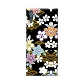和風・桜&浪 Sony Xperia XZ ポリカーボネート ハードケース