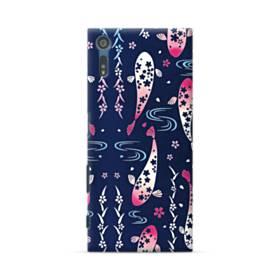 和柄:桜&錦鯉 Sony Xperia XZ ポリカーボネート ハードケース