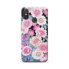和の花柄 Xiaomi Mi 8 ポリカーボネート ハードケース