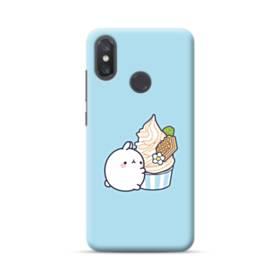 ぽっちゃりウサギ Xiaomi Mi 8 ポリカーボネート ハードケース