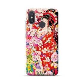 和・花魁&桜 Xiaomi Mi 8 ポリカーボネート ハードケース