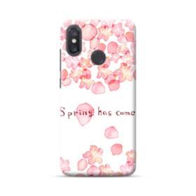 桜&デザイン英文 Xiaomi Mi 8 ポリカーボネート ハードケース
