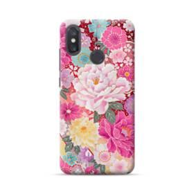 和の花柄:牡丹 Xiaomi Mi 8 ポリカーボネート ハードケース