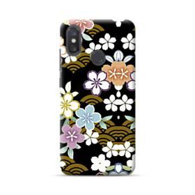 和風・桜&浪 Xiaomi Mi 8 ポリカーボネート ハードケース