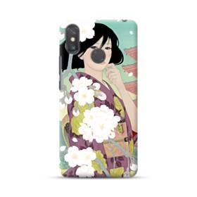 ザ・桜&ジャパンガール! Xiaomi Mi Max 3 ポリカーボネート ハードケース