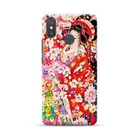 和・花魁&桜 Xiaomi Mi Max 3 ポリカーボネート ハードケース