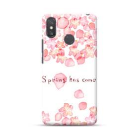 桜&デザイン英文 Xiaomi Mi Max 3 ポリカーボネート ハードケース
