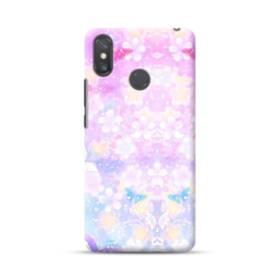 爛漫・抽象的な桜の花 Xiaomi Mi Max 3 ポリカーボネート ハードケース