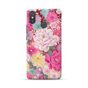 和の花柄:牡丹 Xiaomi Mi Max 3 ポリカーボネート ハードケース