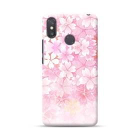 爛漫・ピンク&桜色 Xiaomi Mi Max 3 ポリカーボネート ハードケース