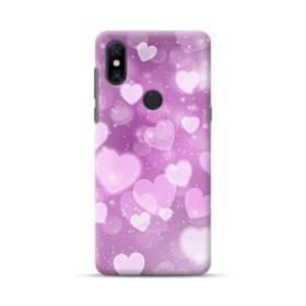 爛漫・ハート柄 Xiaomi Mi Mix 3 ポリカーボネート ハードケース