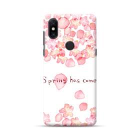 桜&デザイン英文 Xiaomi Mi Mix 3 ポリカーボネート ハードケース