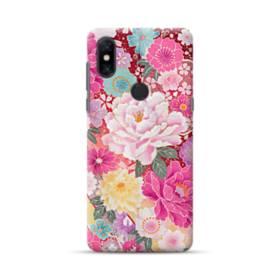 和の花柄:牡丹 Xiaomi Mi Mix 3 ポリカーボネート ハードケース